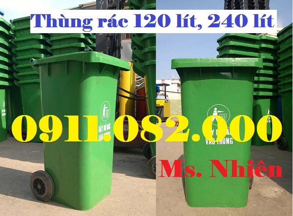 Thùng rác 240 lít giá bao nhiêu? thùng rác 120 lít giá rẻ- thùng rác 400 lít