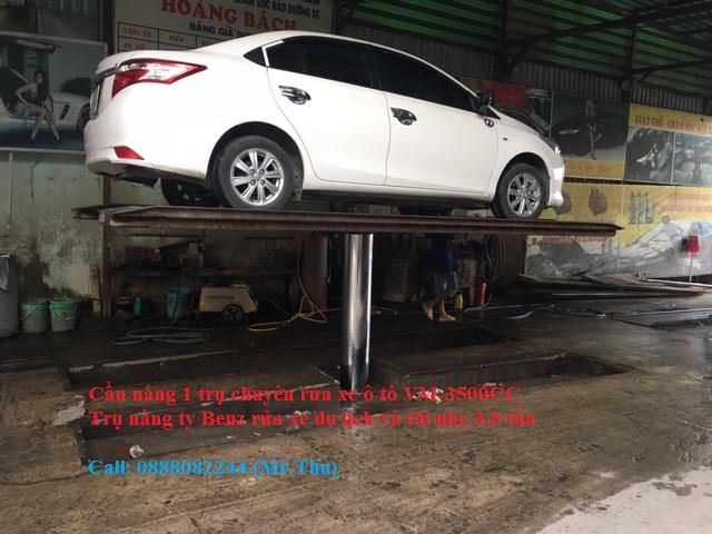Cầu nâng 1 trụ chuyên rửa xe ô tô VM-4000CC Trụ nâng ty Benz rửa xe du lịch và tải nhẹ 4 tấn