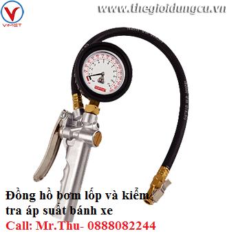 Đồng hồ bơm lốp 3 chức năng Toptul