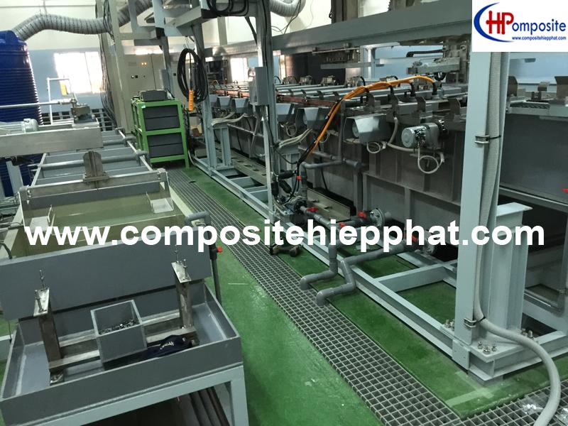 Phủ nhựa FRP cho hệ thống xi mạ crom