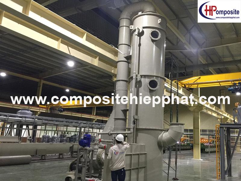 Tháp nhựa PPcomposite xử lý khí