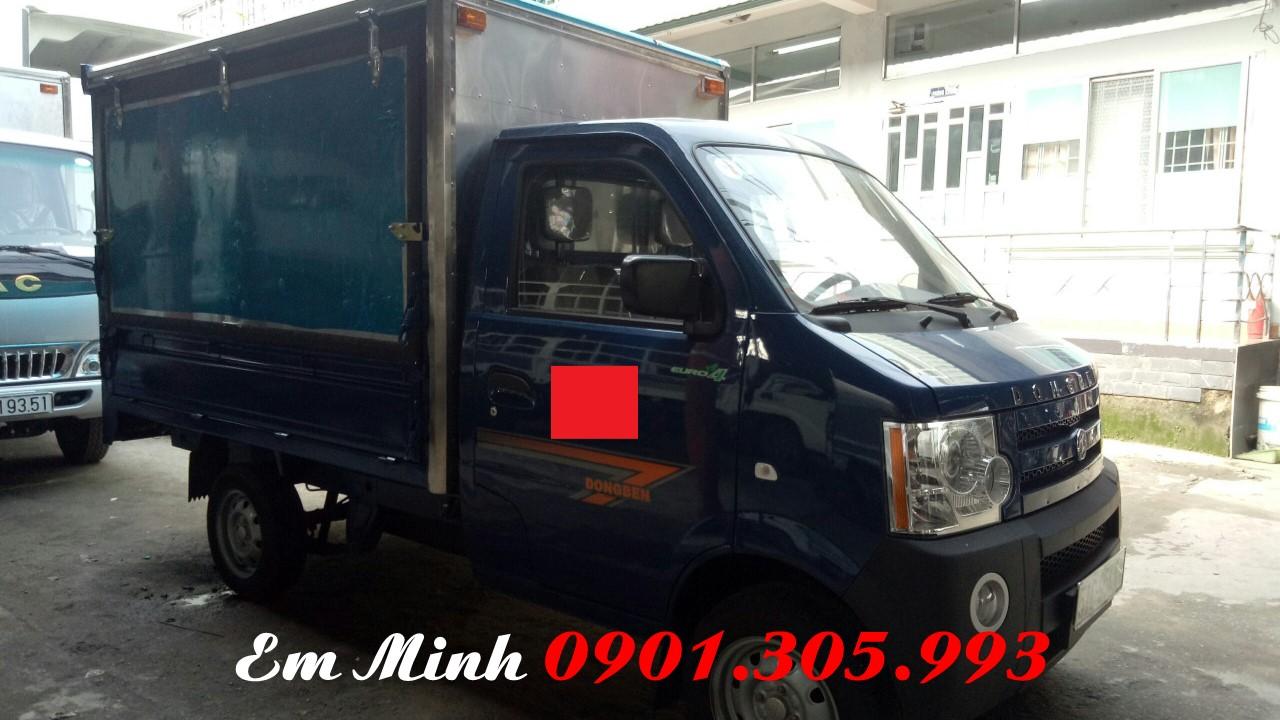 Giá Xe tải dong ben 870 kg/ xe tải veam 870 kg/ xe tải 750 kg giá rẻ thùng kín giá ưu đãi