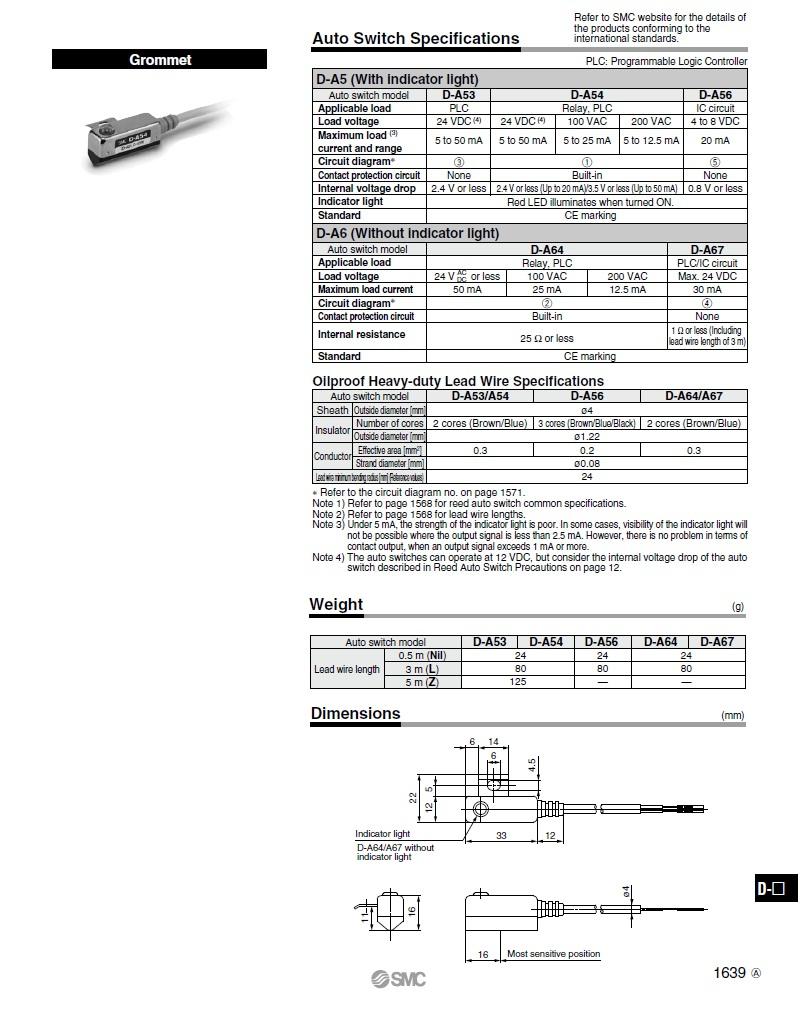 Cảm biến SMC D-A54