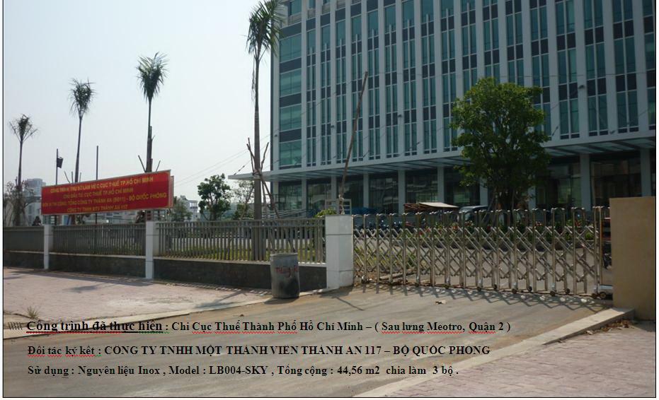 Cổng xếp tự động, cổng điện inox-0913183440