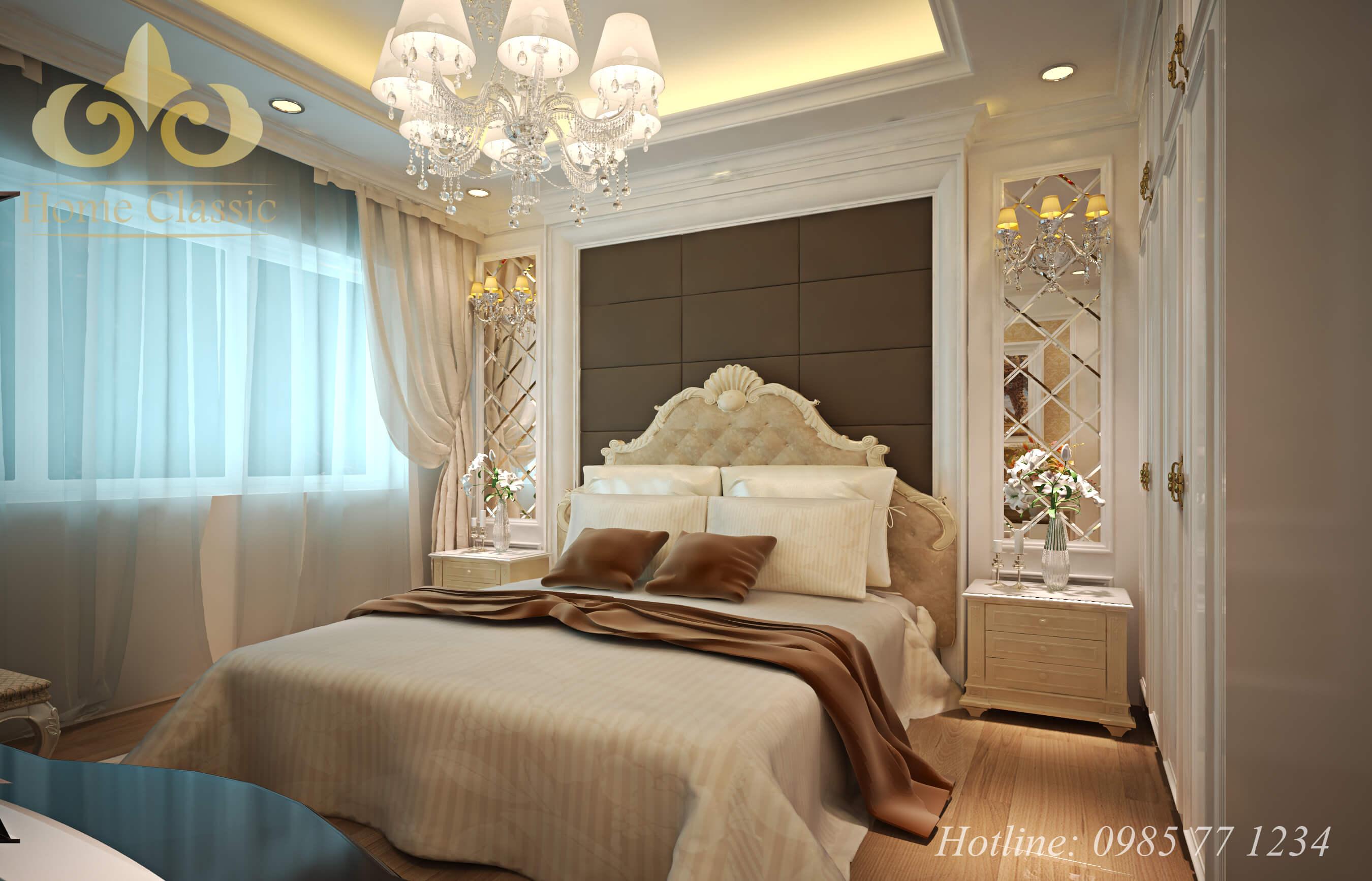 Thi công nội thất phòng ngủ tân cổ điển - cổ điển