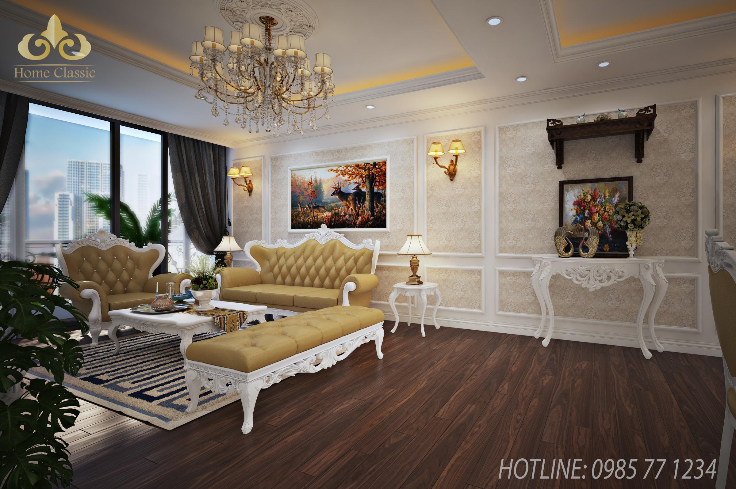 Thiết kế nội thất chung cư tân cổ điển 2411