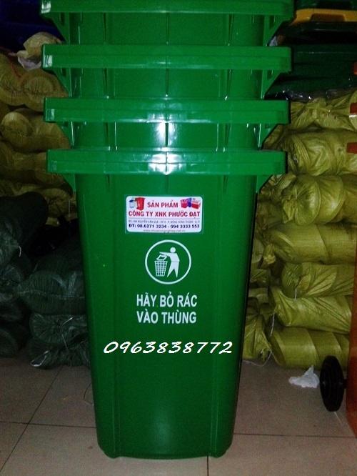 Thùng rác 240L | Thùng rác nhựa có bánh xe