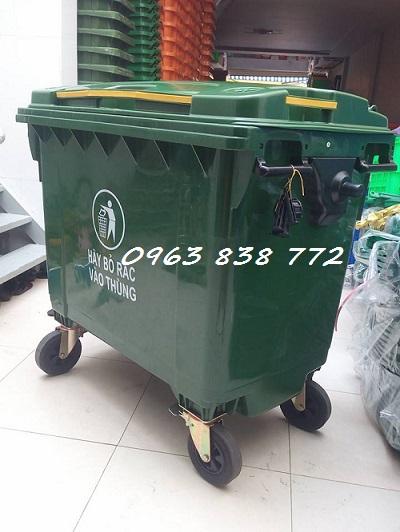 Xe đẩy rác công nghiệp 660L   0963 838 772
