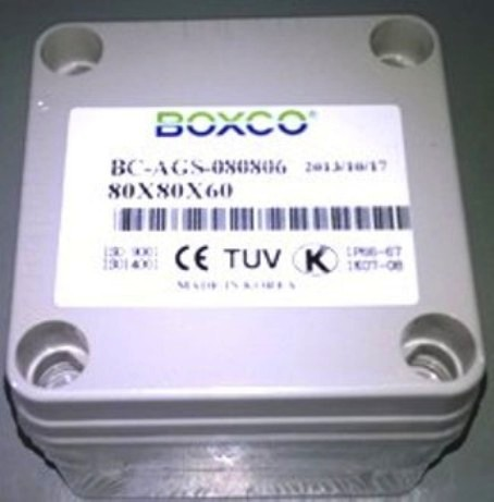 Hộp chống thấm IP66 BOXCO BC-AGS-080806, KT: 80x80x60