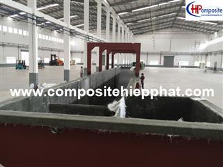 Bọc phủ FRP cho bể xử lý nước thải