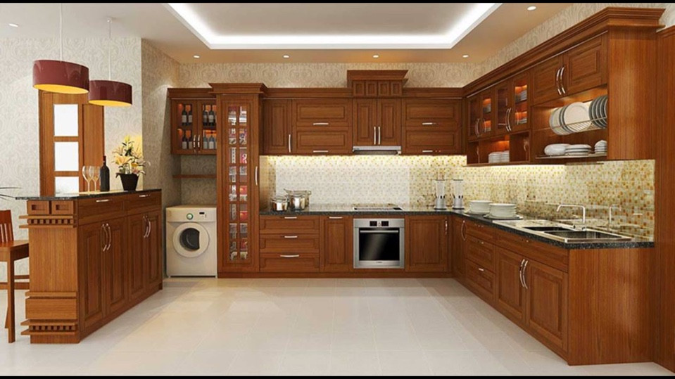 Tủ bếp  gỗ tự nhiên Phát Mộc Gia