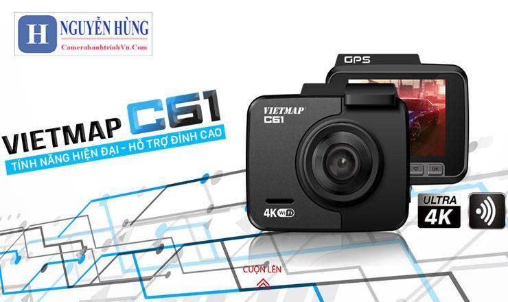 Camera hành trình vietmap c61 ghi hình 4k,wifi,gps