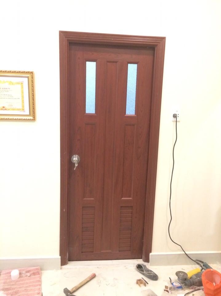cửa nhựa pvc hueshin giả gỗ long thành long khánh