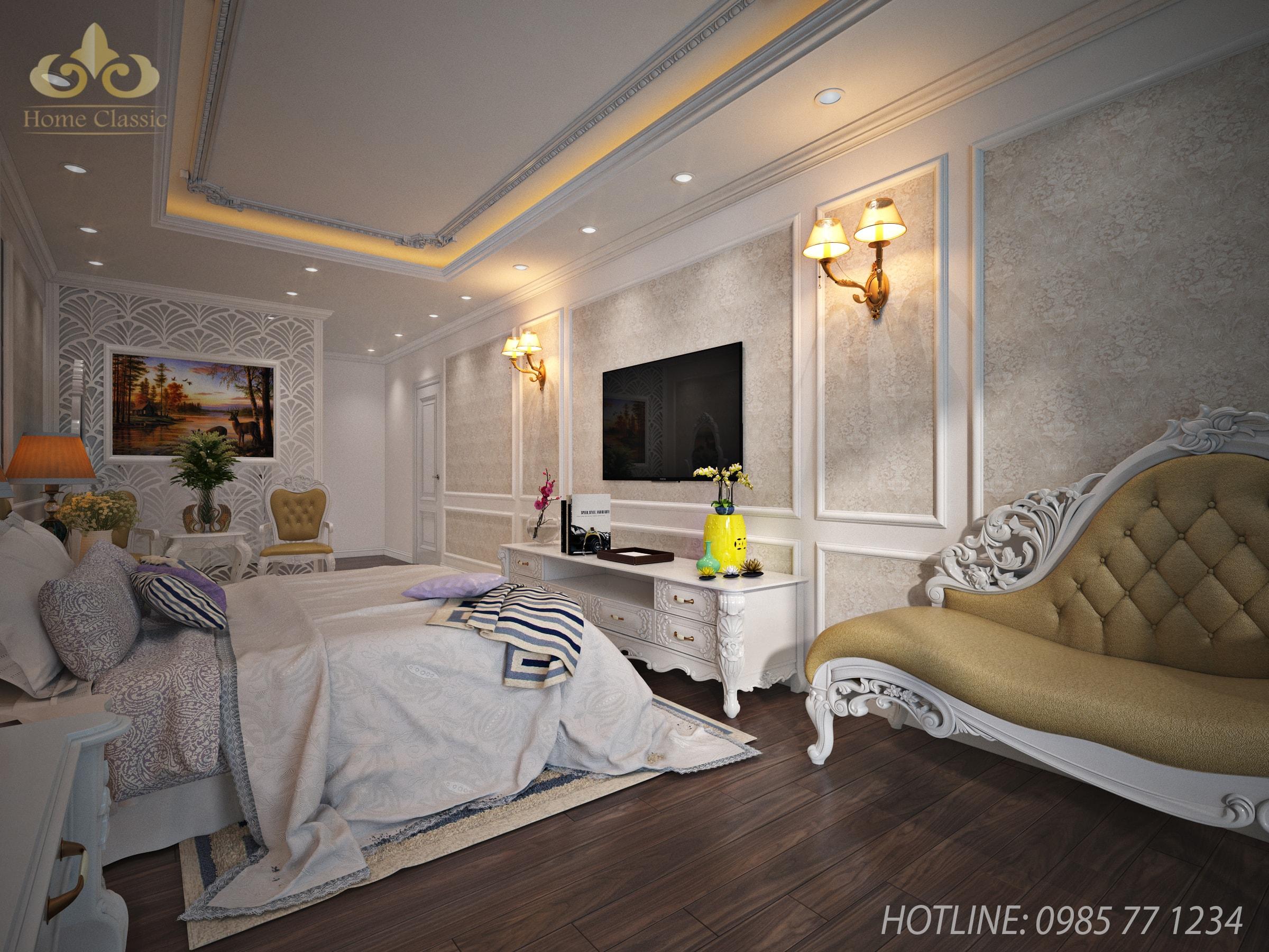 Thiết kế, thi công nội thất tân cổ điển Hà Nội 221