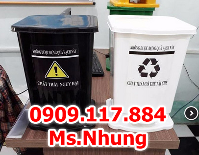 Thùng đựng rác y tế, thùng rác y tế 15l 20l, thùng rác thải y tế