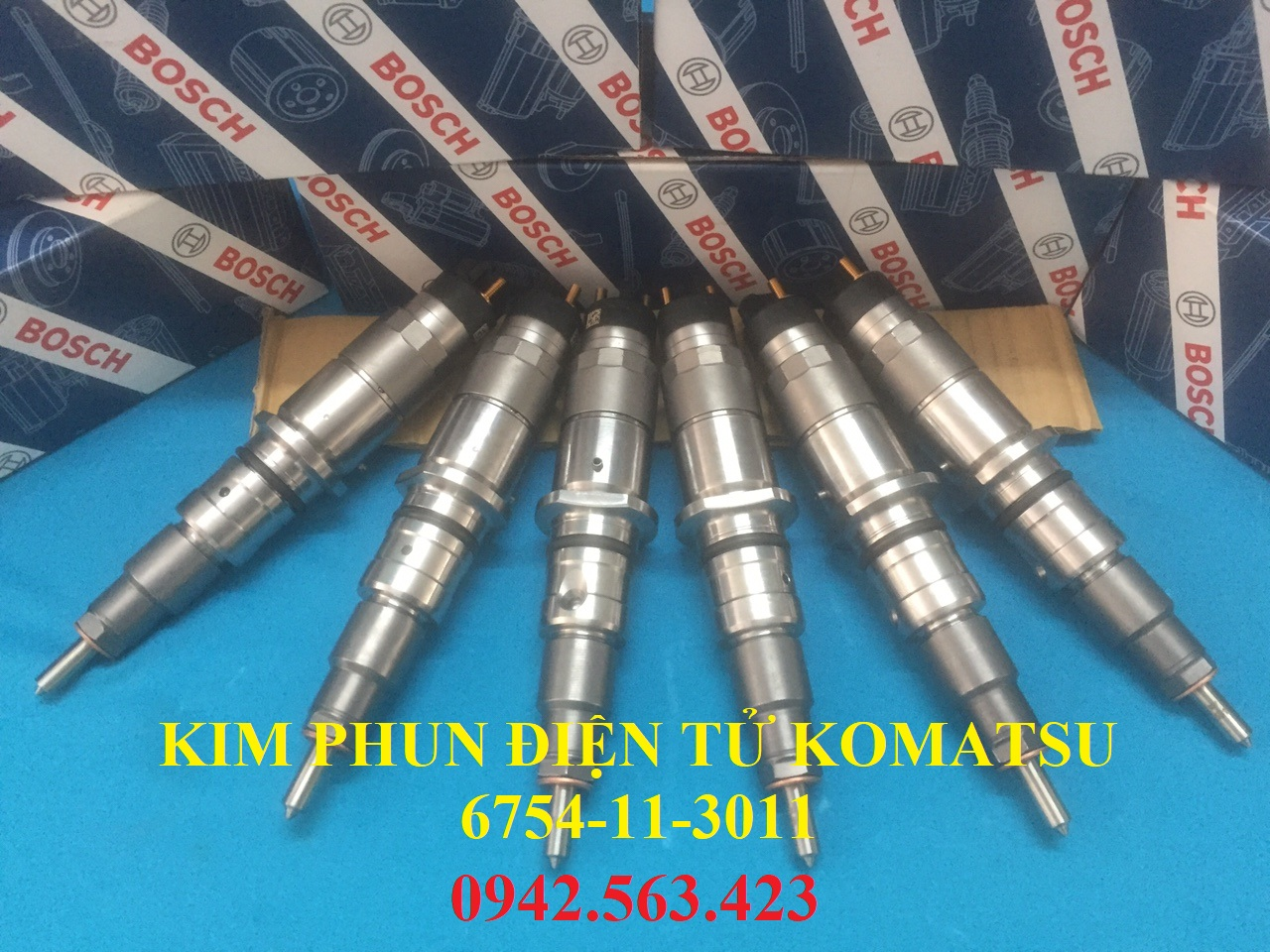 Kim phun điện tử Komatsu 6754-11-3011 lắp PC200-8, PC220-8, PC240-8, WA420-3, WA380-3
