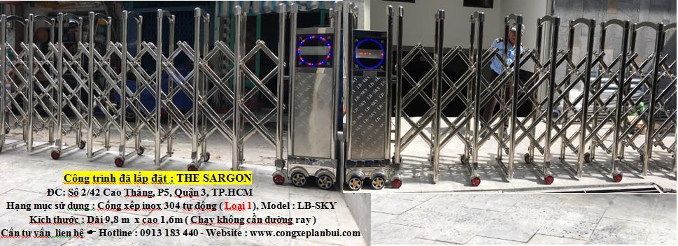 Cổng xếp tự động trúng thầu tại THE SARGON- Quận 3 - 0913183440. Ms.Lan