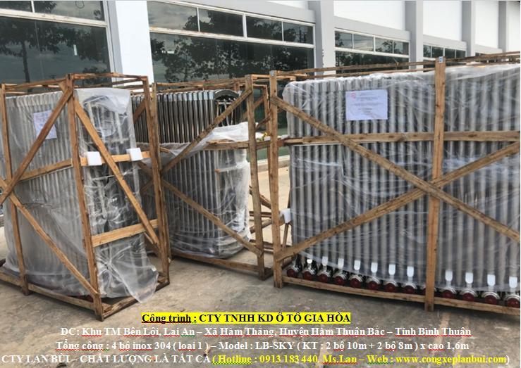 Cty Lan Bùi trúng thầu 4 bộ cổng xếp inox tại Hàm Thuận Bắc, Bình Thuận