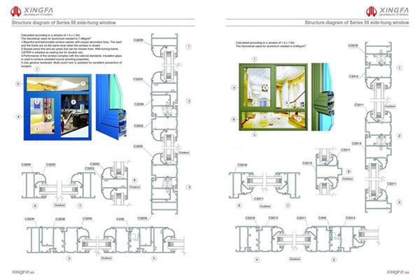 Mẫu bản vẽ thiết kế cửa nhôm xingfa nhập khẩu cao cấp