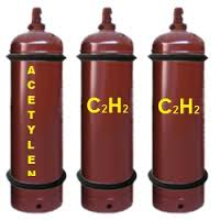 Khí Acetylen (khí axetylen),  Chai Acetylen, bán bình Axetylen