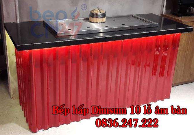 Bếp hấp Dimsum 10 lỗ âm bàn