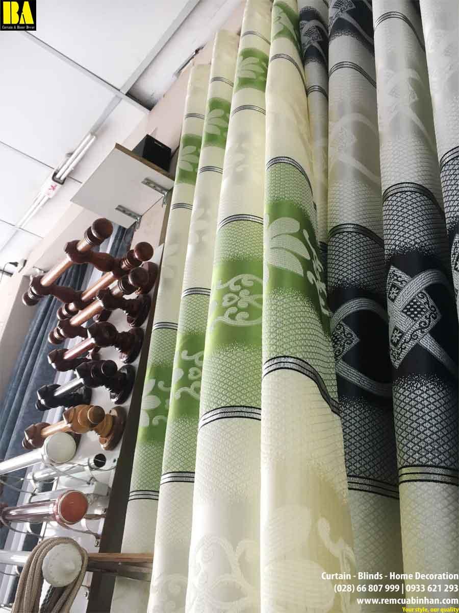 Rèm vải gấm dệt chống nắng giá rẻ May màn cửa giá rẻ HCM