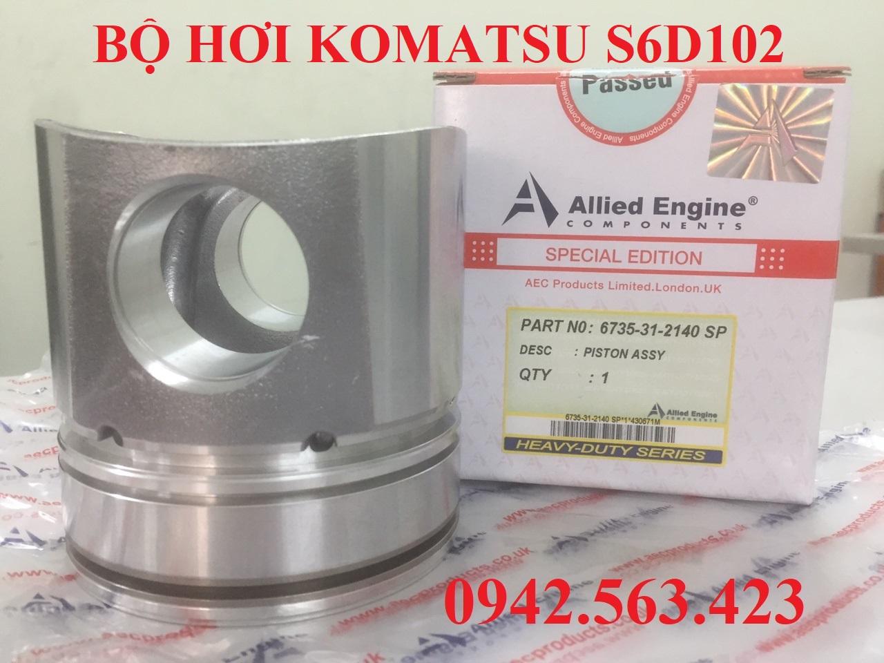 Bộ hơi Komatsu S6D102, Bộ hơi S6D102