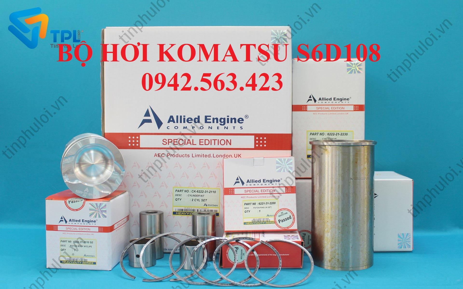 Bộ hơi Komatsu S6D108 -1, Bộ hơi S6D108-1, Bộ hơi S6D108