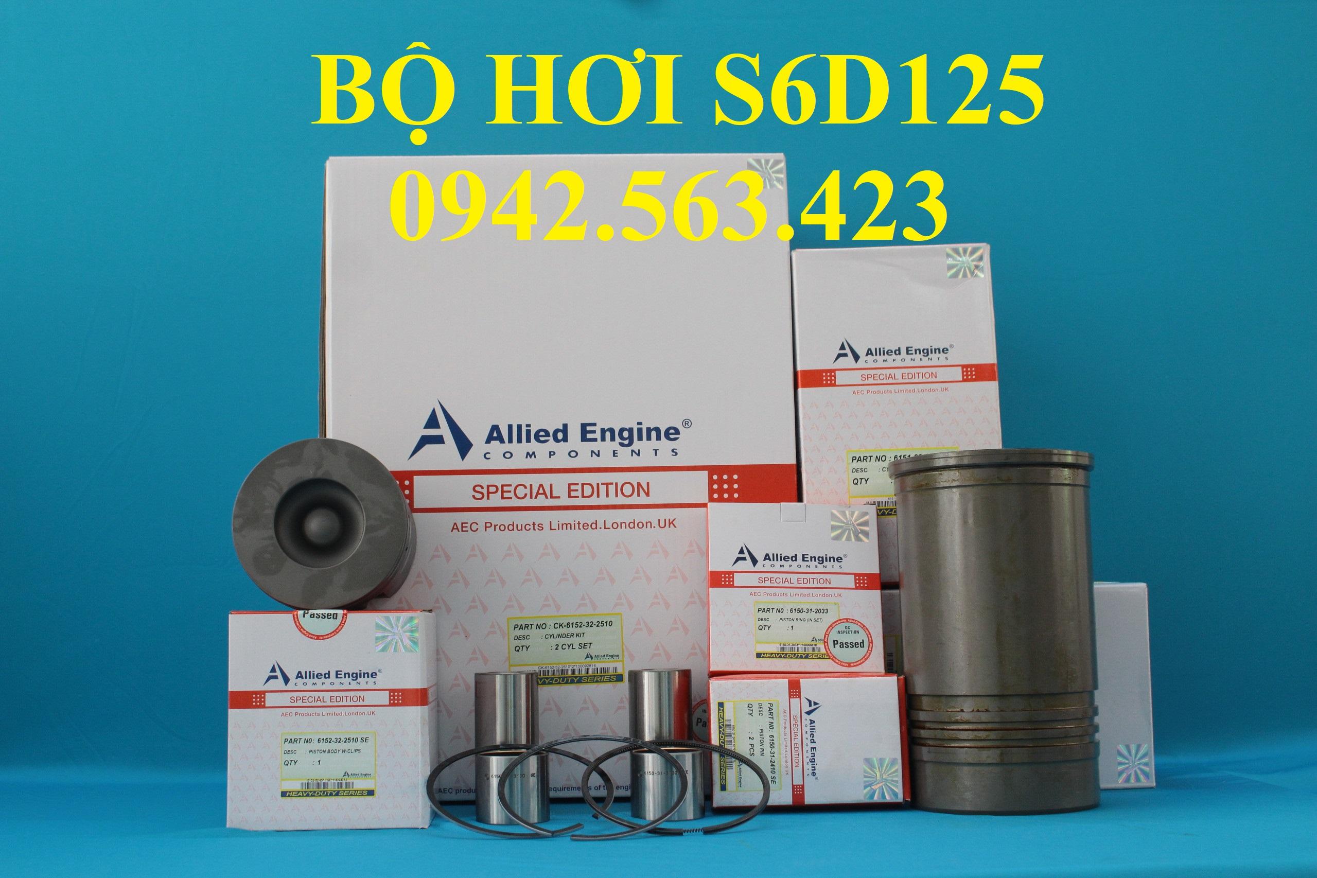 Bộ hơi S6D125 lắp PC300-3, PC400-3, PC400-5