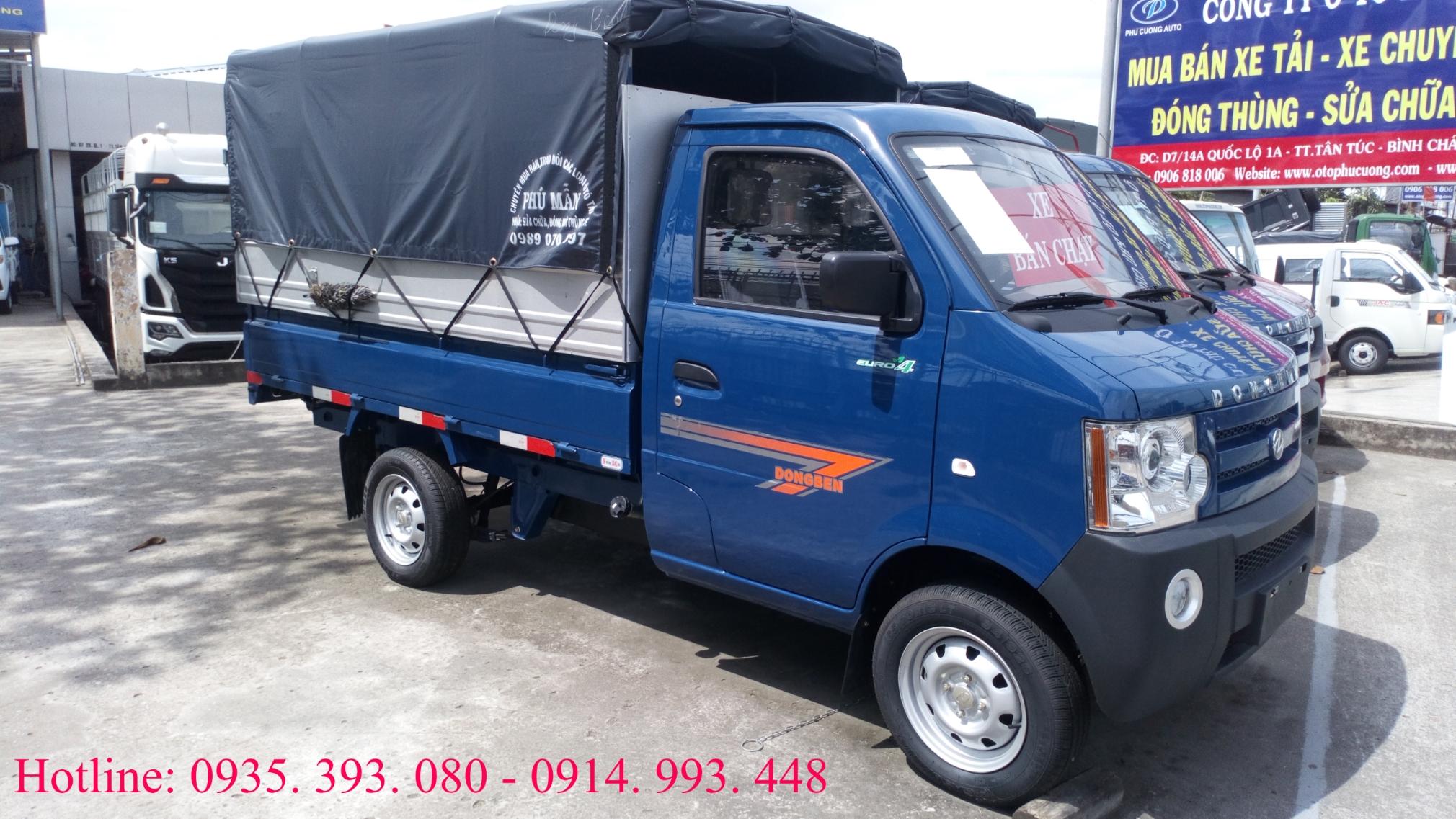 Xe tải 1 tấn Dongben 2018 trả góp bao hồ sơ