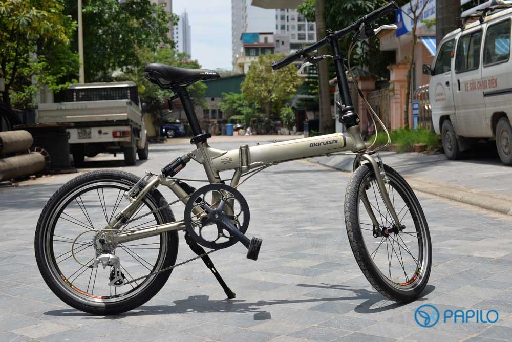 Điều gì làm nên ưu thế của xe đạp gấp Nhật Bản Maruishi 083
