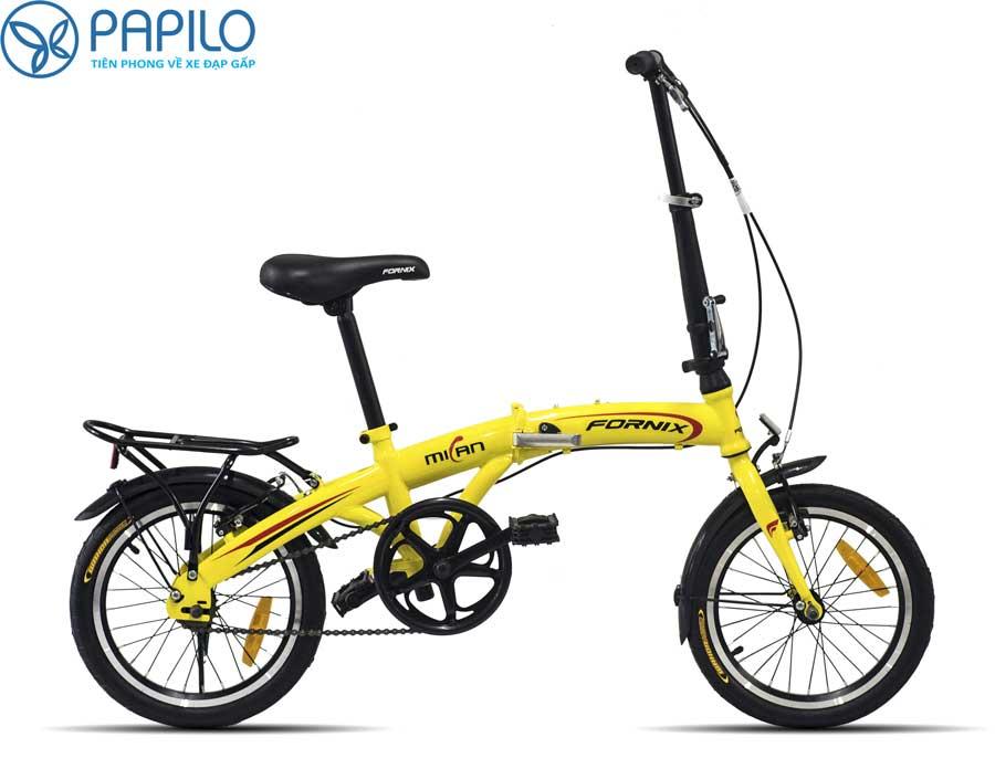 """Xe đạp gấp hcm cho trẻ em– Xe đạp gấp Fornix Milan 16"""""""