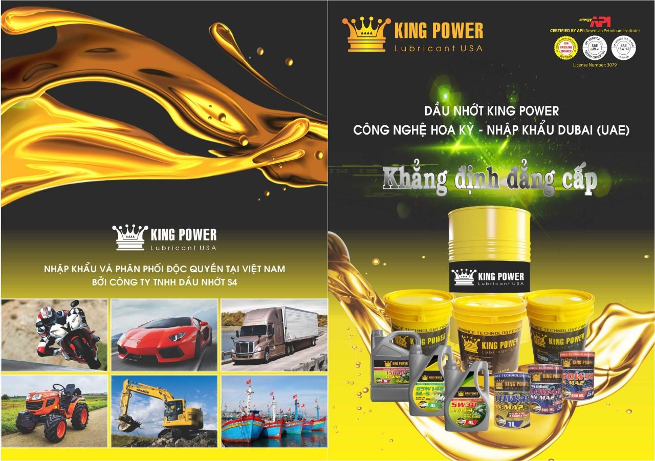 Dầu nhớt nhập khẩu UAE thương hiệu King Power