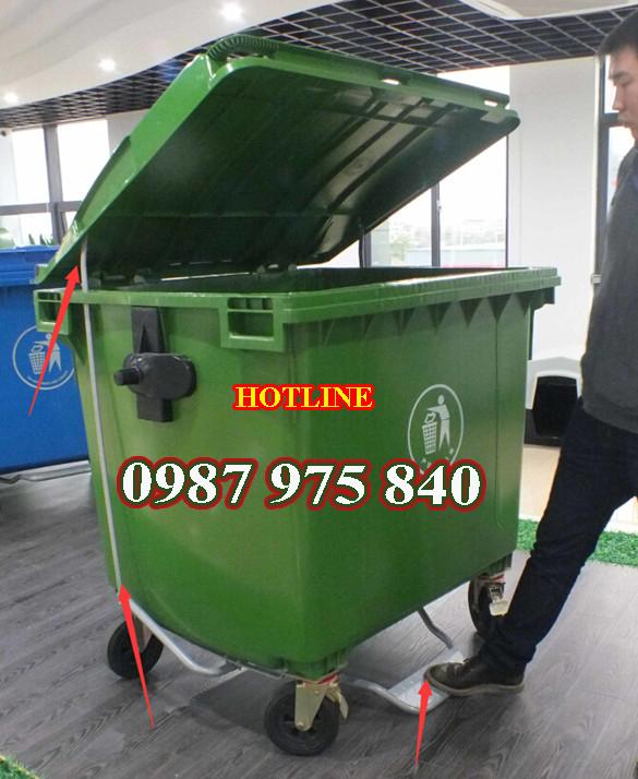 Xe đẩy rác,gom rác HDPE : 400L,660L,100L