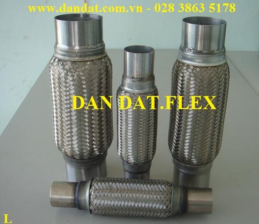 Bô zin chống rung (inox 304,316), bô giảm chấn inox, Bô Zin chống rung có lưới trong lưới ngoài, khớp nối mềm inox