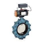 Butterfly valve - lug type - pneumatic actuator