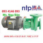 Bơn hóa chất NTP, Bơm ly tâm đầu nhựa NTP UVP250-13.7 20