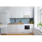 Tủ bếp gỗ laminate trắng tinh khôi