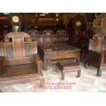 Bàn ghế gỗ mun sọc Kiểu Như ý voi NY03