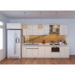Tủ bếp gỗ acrylic đơn sắc