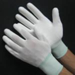 Găng tay phủ PU lòng màu trắng