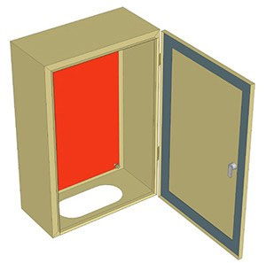 Vỏ tủ điện H600xW500xD200xT1,2mm | Vỏ Tủ Điện | Vỏ Tủ Điện Kim Loại | Vỏ Tủ Lithaco