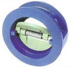 Dual plate check valve wafer