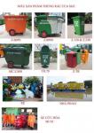 sản phẩm thùng rác, xe rác đa dạng