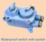 Waterproof switch with socket
