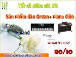 Khuyến mãi tháng 10 cho tất cả các sản phẩm đàn piano điện, đàn organ