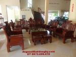Bộ bàn ghế phòng khách gỗ hương Kiểu