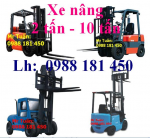 Xe nâng dầu (2-10) tấn,Xe nâng điện(1-3) tấn,Xe