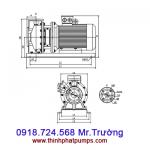 Bơm ly tâm trục ngang Spco - TS65-50