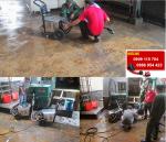 Máy xịt rửa cao áp vệ sinh sàn xưởng công nghiệp